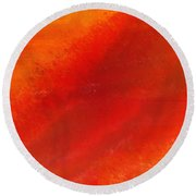 Orange 1 Round Beach Towel