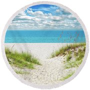 Orange Beach Al Seascape 1086a Round Beach Towel