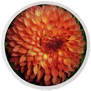 Orange Beauty Round Beach Towel