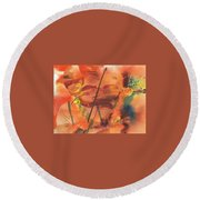 Orange Blossom Special Round Beach Towel