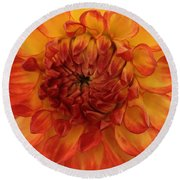Round Beach Towel featuring the photograph Orange Bright by Arlene Carmel