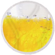 Orange Cocktail Glass Round Beach Towel