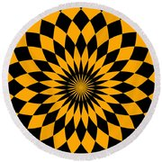 Orange Energy Round Beach Towel