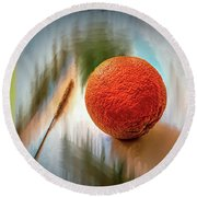 Orange #g4 Round Beach Towel