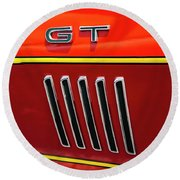 Orange Gt Round Beach Towel