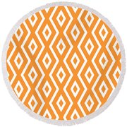 Peach Pattern Round Beach Towel