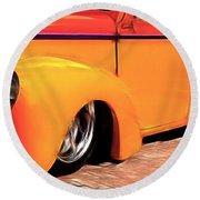 Orange Rush - 1941 Willy's Coupe Round Beach Towel