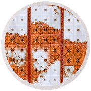 Orange Scented Bleach Round Beach Towel