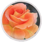 Orange Sherbert Round Beach Towel by Marna Edwards Flavell