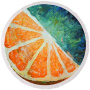 Orange Slice Round Beach Towel