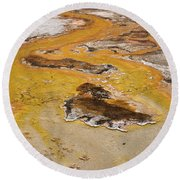Orange Stream Round Beach Towel