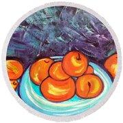 Oranges Round Beach Towel