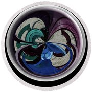 Round Beach Towel featuring the photograph Orb Lineup by Judy Wolinsky