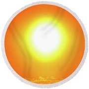 Round Beach Towel featuring the photograph Orb Two  by Lyle Crump