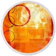 Orbit Abstract Round Beach Towel
