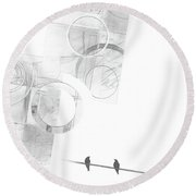Orbit No. 4 Round Beach Towel