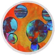 Orbita Round Beach Towel