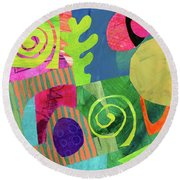 Orbits Round Beach Towel