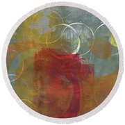 Orbs Round Beach Towel