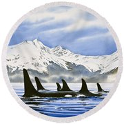 Orca Round Beach Towel