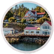 Round Beach Towel featuring the photograph Orcas Island by Rod Best