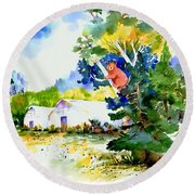 Orchard Springs Bear Round Beach Towel