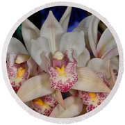 Orchid 348 Round Beach Towel