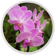 Orchid #6 Round Beach Towel