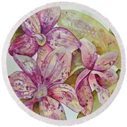 Orchid Envy Round Beach Towel