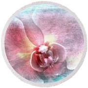 Orchid Fairy Round Beach Towel