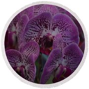 Orchid Glow Round Beach Towel