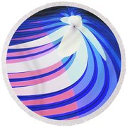 Orchid In A Stream Round Beach Towel