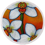 Orchid Oasis Round Beach Towel