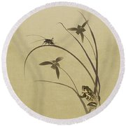 Orchid Sonata Round Beach Towel