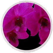 Orchid Song Round Beach Towel