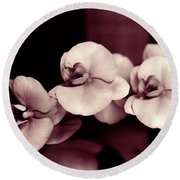 Round Beach Towel featuring the photograph Orchids Hawaii by Mukta Gupta