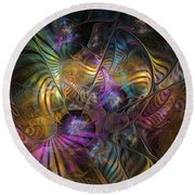 Round Beach Towel featuring the digital art Ordinary Instances by NirvanaBlues