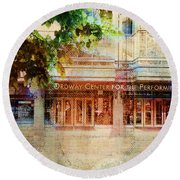 Ordway Center Round Beach Towel by Susan Stone