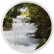 Oregon Cascade Round Beach Towel
