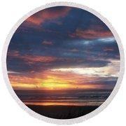 Oregon Coast 11 Round Beach Towel