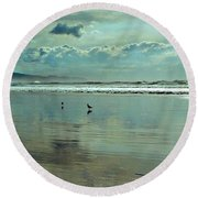 Oregon Coast 6 Round Beach Towel