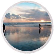 Oregon Coast 7 Round Beach Towel
