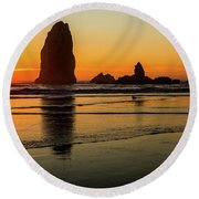 Oregon Coast Round Beach Towel