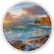 Round Beach Towel featuring the photograph Oregon Coast Wonder by Darren White