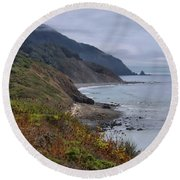 Oregon Coastal Vista Round Beach Towel
