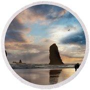Oregon Coastine Round Beach Towel