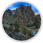 Oregon Desert Sunset Round Beach Towel