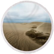 Oregon Dune Wasteland 1 Round Beach Towel