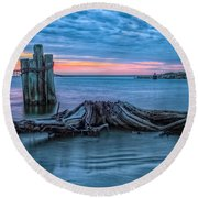 Oregon Inlet II Round Beach Towel