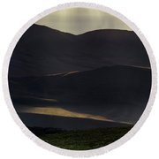 Round Beach Towel featuring the photograph Oregon Mountains 1 by Leland D Howard